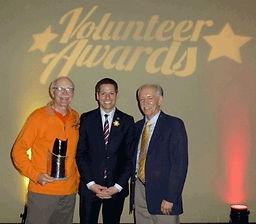 Denis DePape (2015 Recipient), Mayor Brian Bowman, Denis Gautron (SOS President)