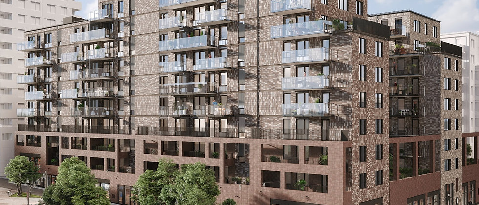 BALTIC & TORG / 105 lägenheter med 1-5 rum i Stockholm/Bromma/Annedal / TRIFAM