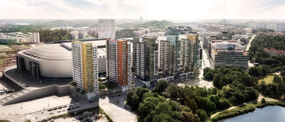 VIP LOGEN / 146 lägenheter med 1-5 rum i Solna/Arenastaden / PEAB