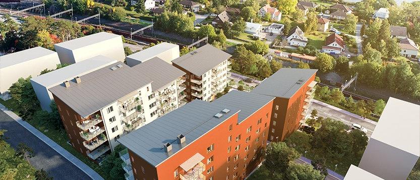 KUNGSVYN / 76 lägenheter med 1-4 rum i Upplands-Bro/Kungsängen / HSB