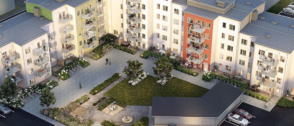 SKOGSVIOLEN / 79 lägenheter med 1-4 rum i Södertälje/Västergård / PEAB BOSTAD