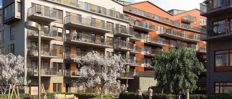 SPINNA / 79 lägenheter med 1-4 rum i Stockholm/Hammarby Sjöstad / IKANO