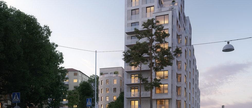 Ordonnansen V Gärdet / 116 lägenheter med 1-6 rum i Stockholm/Gärdet / AROS