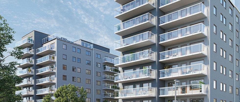 MÄLARPARKEN / 63 lägenheter med 1-4 rum i Södertälje/Bergvik / PEAB