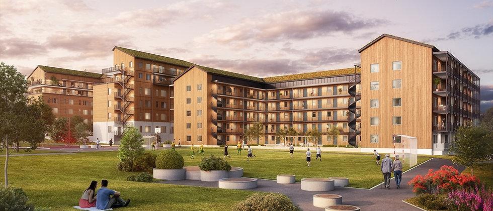 SJÖGLIMTEN / 24 lägenheter med 2-5 rum i Huddinge/Flemingsberg / SHH
