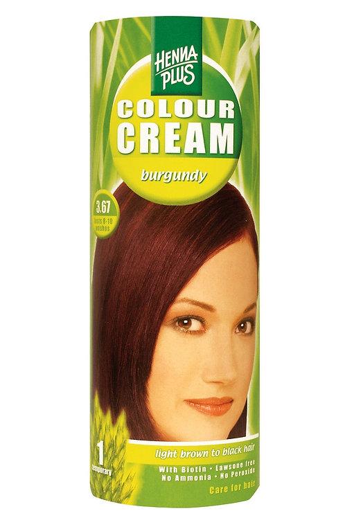 海靈天然染髮霜酒紅色 - 3.67