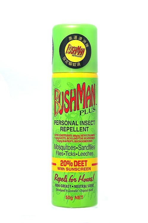 Bushman Plus 20%避蚊胺防曬噴霧