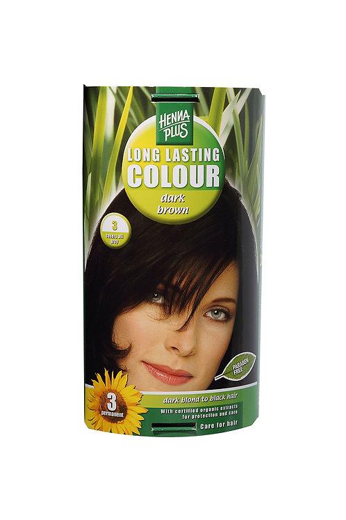 海靈長效天然染髮霜深啡色- 3