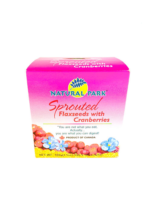 Natural Park Cranberries Sprouted Flaxseeds然康派紅莓破壁亞麻籽