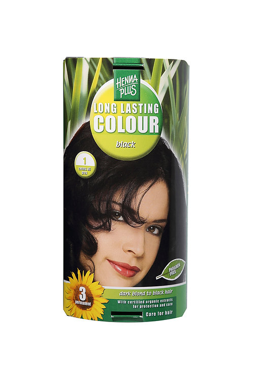 海靈長效天然染髮霜黑色 - 1