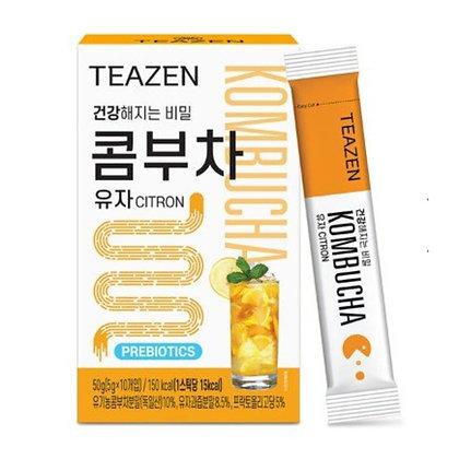 Teazen - [10條入] 銷量NO.1 瘦身乳酸菌康普茶 (柚子味)