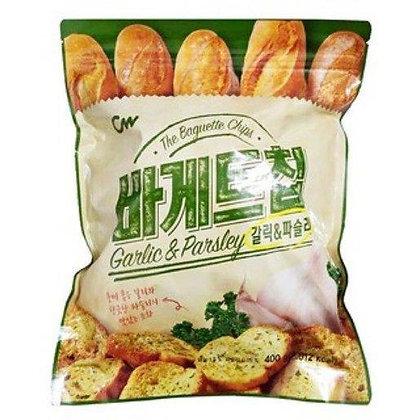 CW牛油蒜蓉麵包脆吐司 大包裝 400g