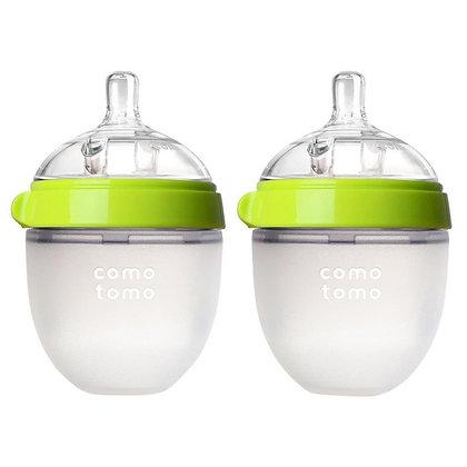 Comotomo 矽膠母乳實感奶瓶 5oz, 150ml 2個裝 (綠色)