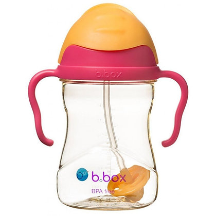 b.box - 新!PPSU 防漏吸管學飲杯-黃金系列-粉橙色