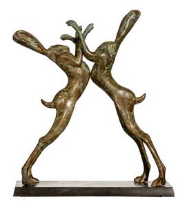 Boxing Pair Dimensions: Medium: Bronze Edition of 9