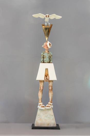 Impending Dimensions: 54 x 15 x 9 cm Media: Bronze, enamel Edition of 6 Year: 2018