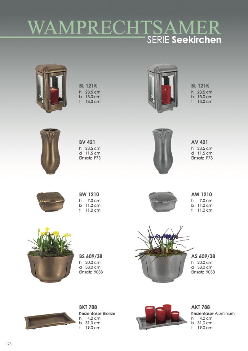 Nistelberger Laternen, Vasen, Grabschmuck, Bronze, Wamprechtsamer Seite 178