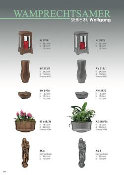 Nistelberger Laternen, Vasen, Grabschmuck, Bronze, Wamprechtsamer Seite 348