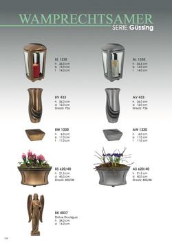 Nistelberger Laternen, Vasen, Grabschmuck, Bronze, Wamprechtsamer Seite 154