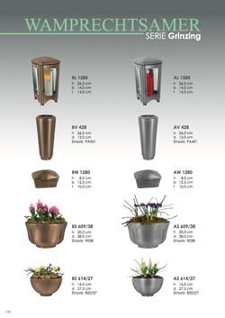 Nistelberger Laternen, Vasen, Grabschmuck, Bronze, Wamprechtsamer Seite 170