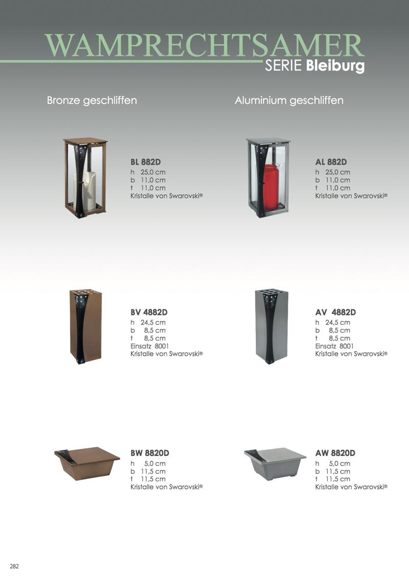 Nistelberger Laternen, Vasen, Grabschmuck, Bronze, Wamprechtsamer Seite 282