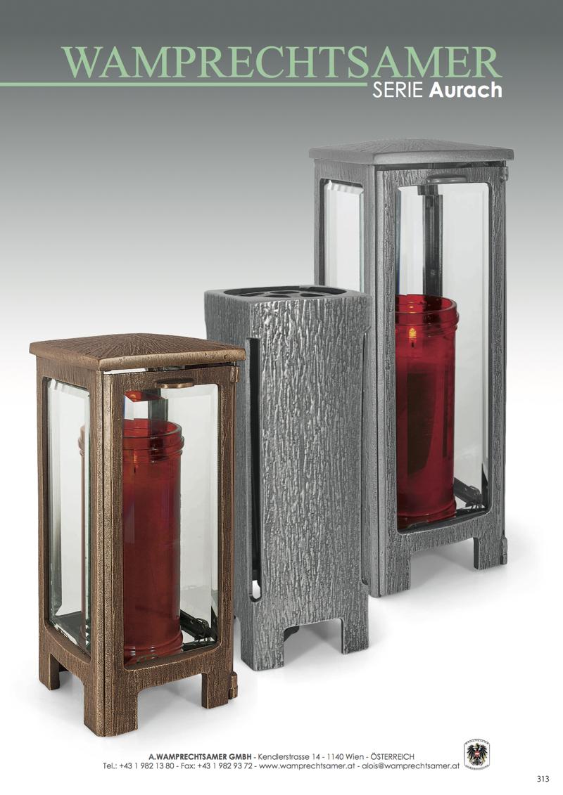 Nistelberger Laternen, Vasen, Grabschmuck, Bronze, Wamprechtsamer Seite 313