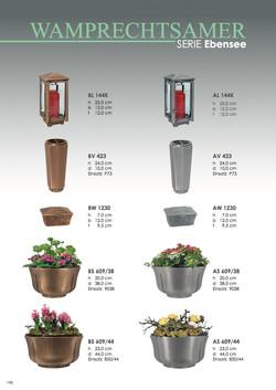 Nistelberger Laternen, Vasen, Grabschmuck, Bronze, Wamprechtsamer Seite 148