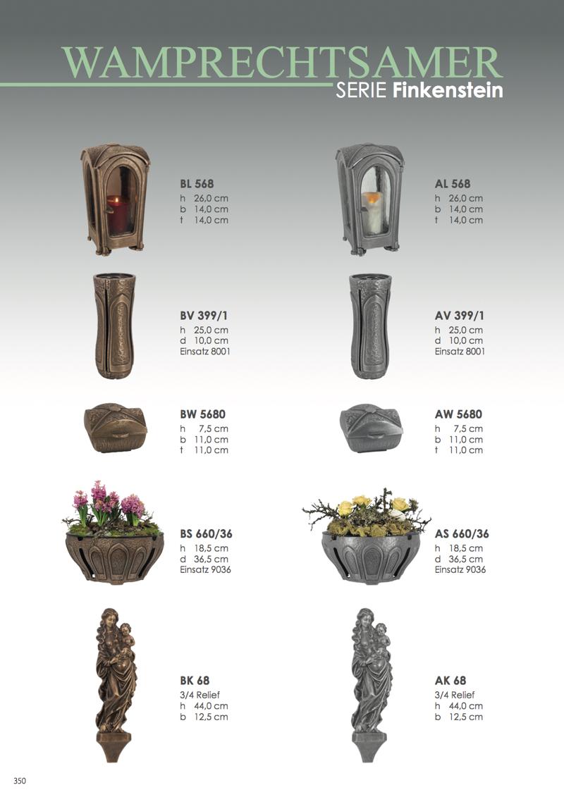Nistelberger Laternen, Vasen, Grabschmuck, Bronze, Wamprechtsamer Seite 350