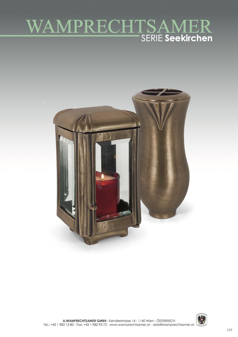 Nistelberger Laternen, Vasen, Grabschmuck, Bronze, Wamprechtsamer Seite 177