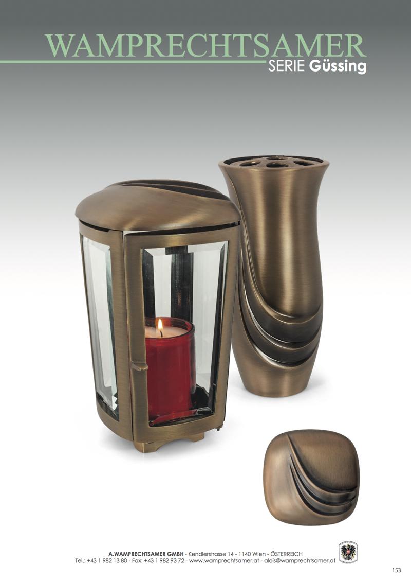 Nistelberger Laternen, Vasen, Grabschmuck, Bronze, Wamprechtsamer Seite 153