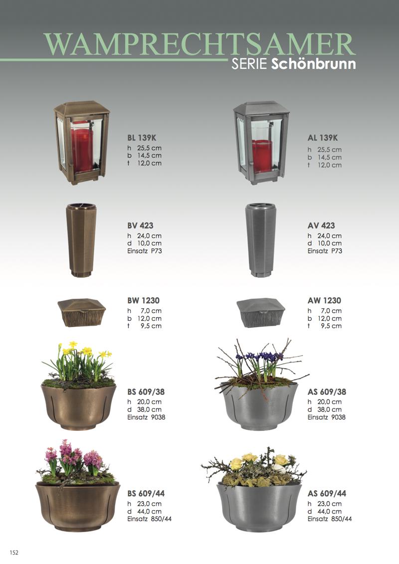 Nistelberger Laternen, Vasen, Grabschmuck, Bronze, Wamprechtsamer Seite 152