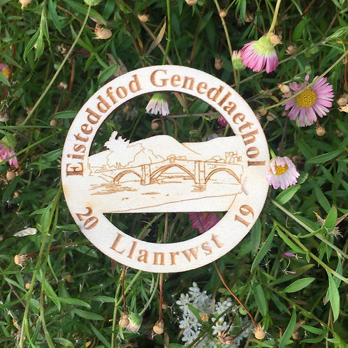 Eisteddfod Genedlaethol Llanrwst Circular fridge magnet
