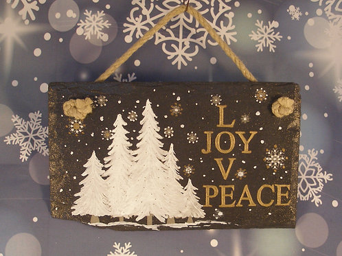 Slate Plaque - Love Joy Peace