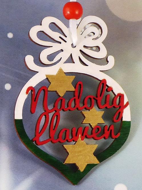 Nadolig Llawen or Merry Christmas bauble