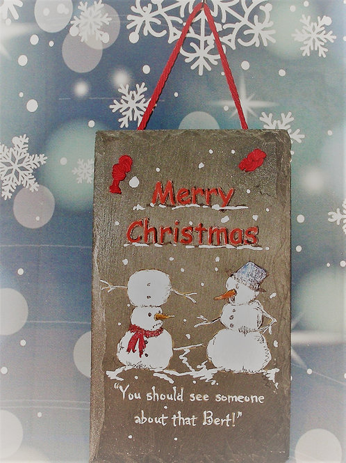 Slate Plaque - Merry Christmas