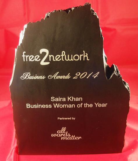 Saira Khan Business Woman of the Year
