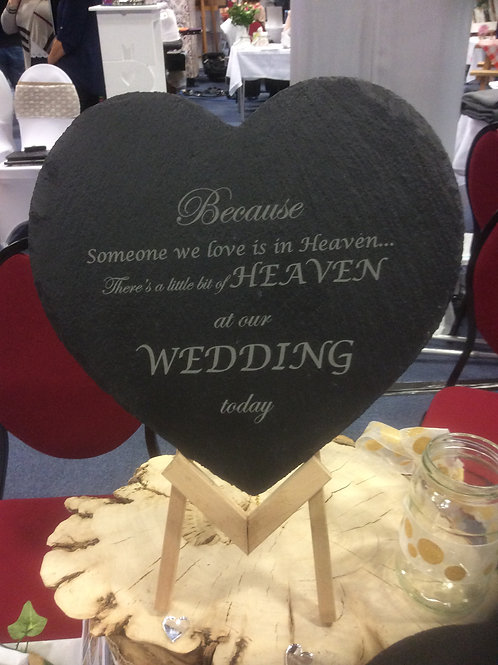 Wedding Day - In Memory Slate Heart