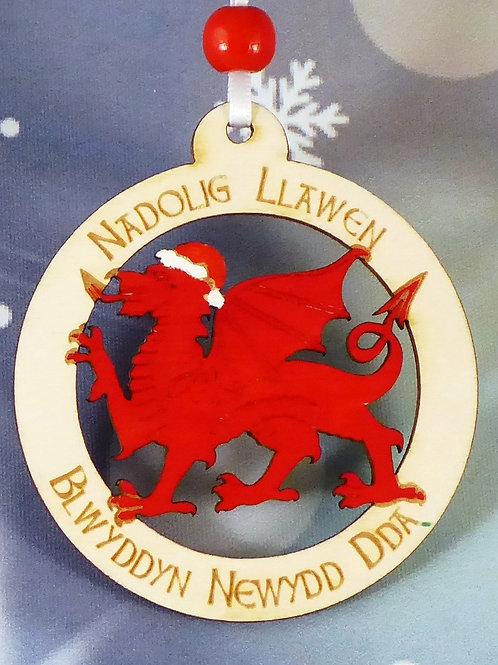 Nadolig Llawen a Blwyddyn Newydd Dda or Merry Christmas and a Happy New Year Dra