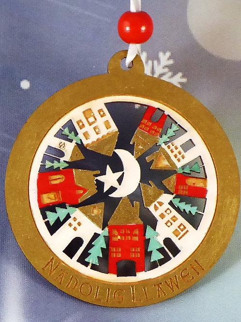 Nadolig Llawen or Merry Christmas circular town