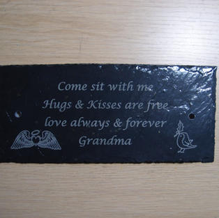 Personlised slate plaque