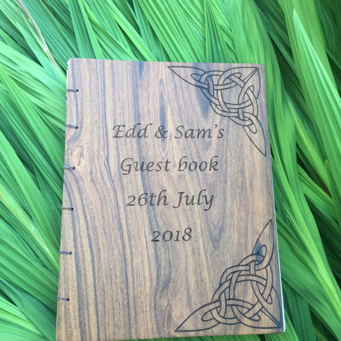 Tradional guestbook cover