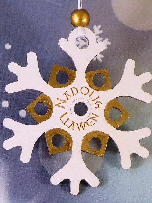 Nadolig Llawen or Merry Christmas funky Star