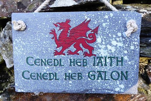 Cenedl Heb Iaith, Cenedl Heb Galon