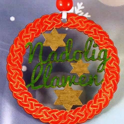 Nadolig Llawen or Merry Christmas Celtic ring
