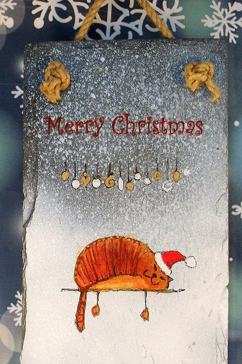 Slate Plaque - Merry Christmas