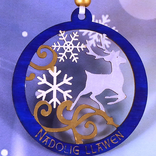 Nadolig Llawen or Merry Christmas Stag