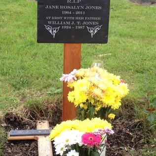 Bespoke grave plaque