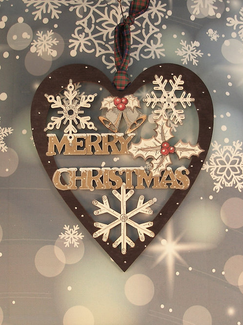 Merry Christmas - large heart