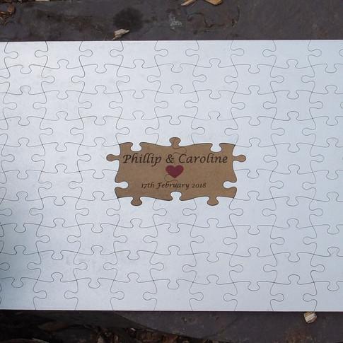 Jigsaw guestbook