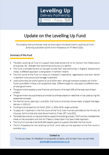Briefing on the Government's £4.8bn Levelling Up Fund